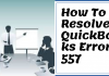QuickBooks Error 557