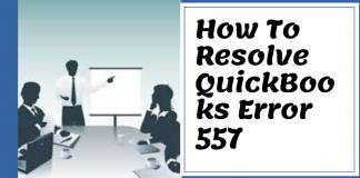 QuickBooks Error 557