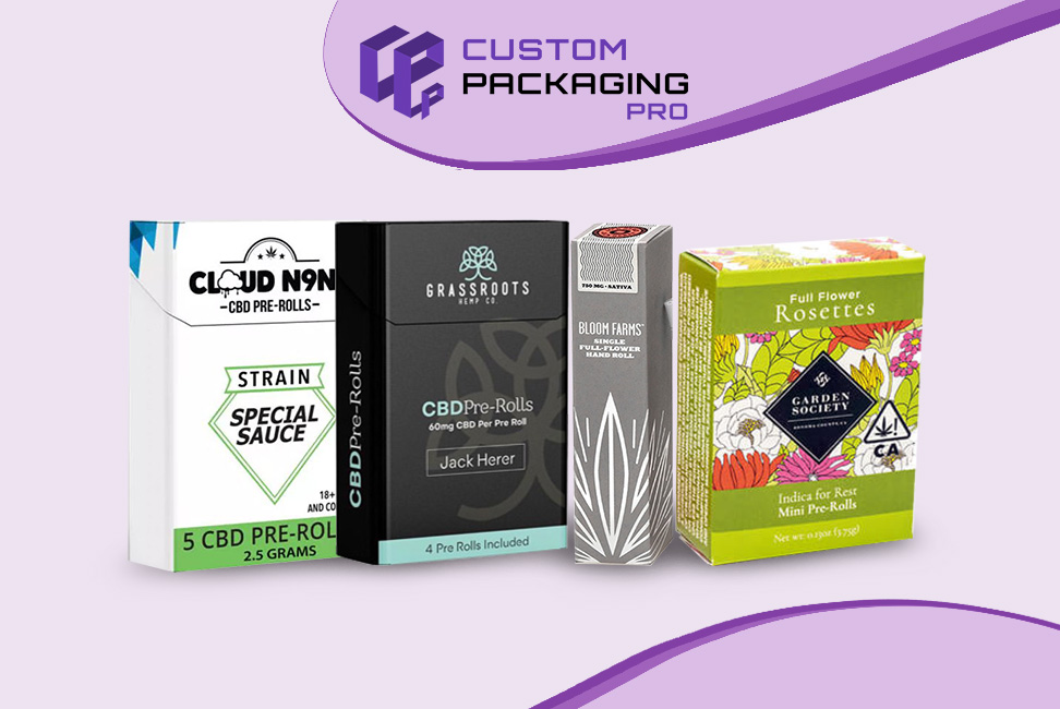 Pre roll packaging boxes