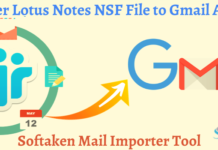 transfer Lotus Notes file to Gmail