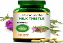 Milk Thistle 800mg, 120 Vegetarian Capsule for Liver