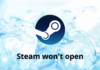Steam Won't open