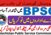 Latest Balochistan Public Service Commission Jobs 2021