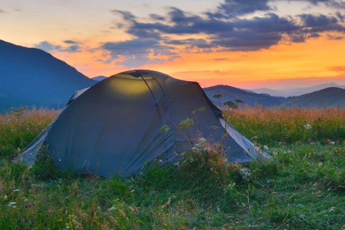 A good tent is important for hiking