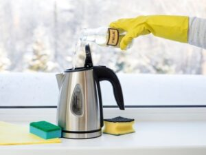 chemically descaling a kettle