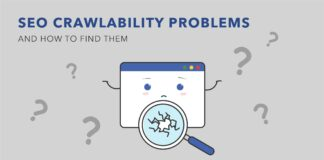 seo crawlability issues mentioned in an animated picture
