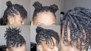 Mini twist hairstyle