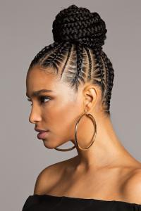 Attractive braided bun