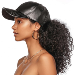 Stylish hair paired with a hat