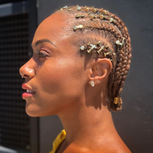Accessorize your protective braided hair
