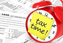 On the first day, you can submit taxes for the year